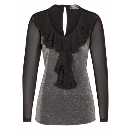Stilvolle Bluse LUCIA mit changierender Vorderseite /