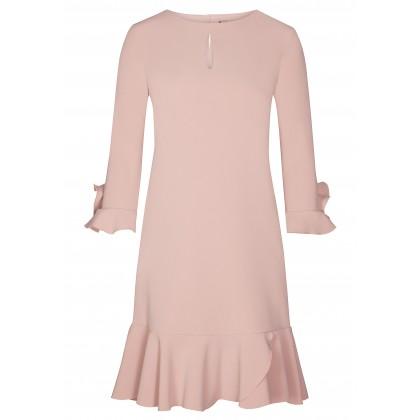 Stilvolles Kleid MILA mit romantischen Volantsdetails /