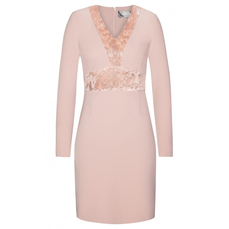 Stilvolles Kleid MARIE mit eleganten Samt-Details