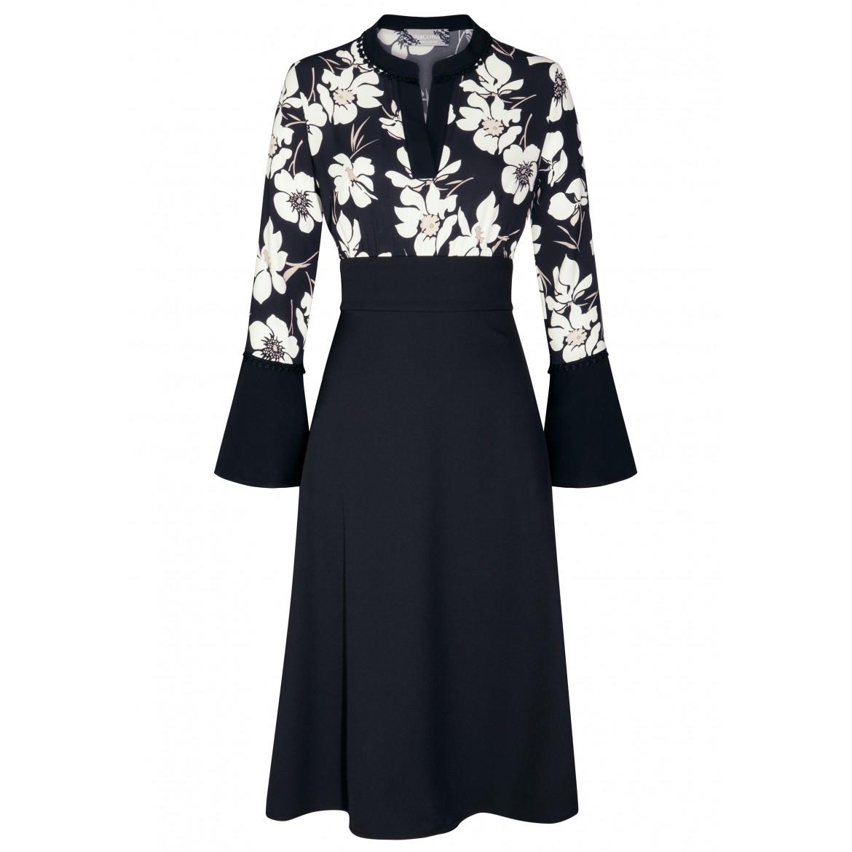 Elegantes Kleid CHARLOTTE mit stilvollem Blumen...
