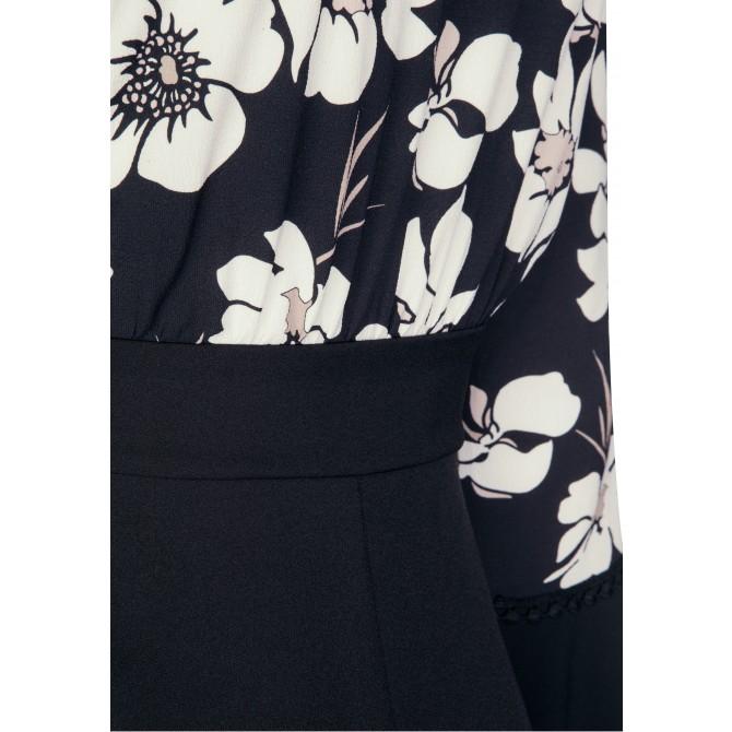 Elegantes Kleid CHARLOTTE mit stilvollem Blumenmuster /