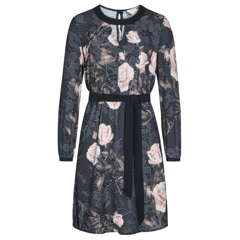 Romantisches Kleid MELINA mit elegantem Rosenmu...