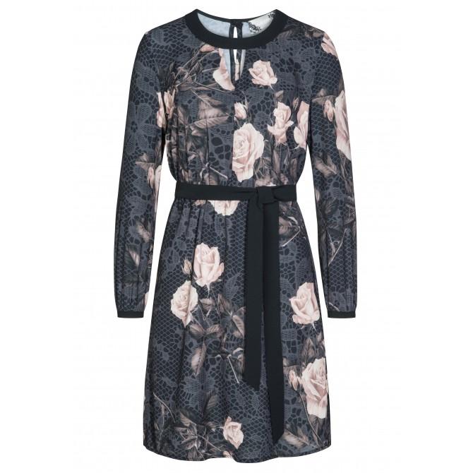 Romantisches Kleid MELINA mit elegantem Rosenmuster /