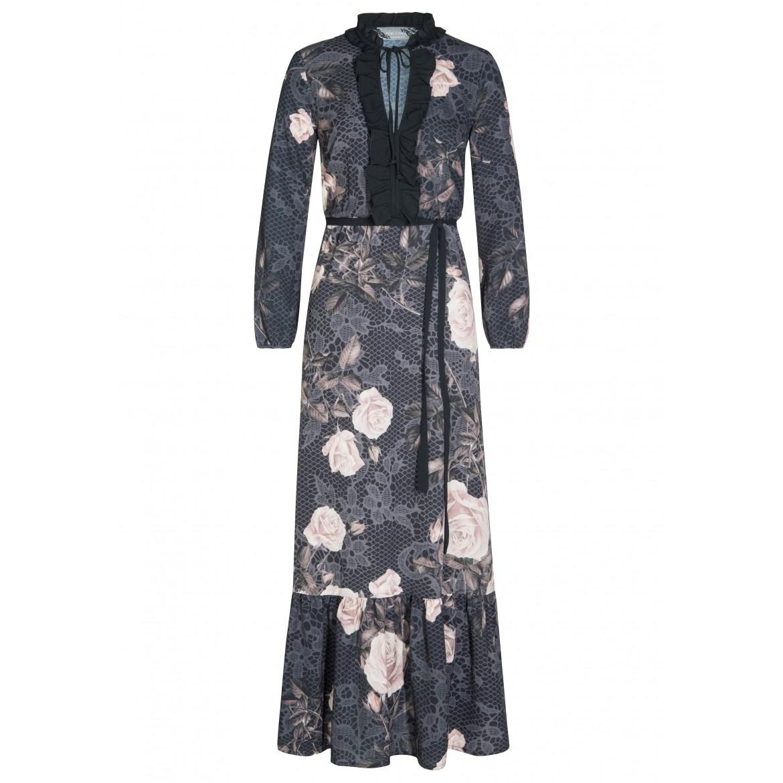 Romantisches Kleid ZOE mit elegantem Rosenmuster