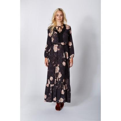 Romantisches Kleid ZOE mit elegantem Rosenmuster /