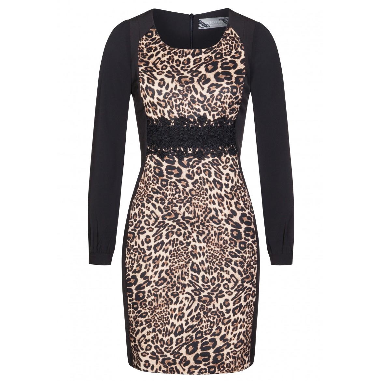 Edles Kleid MAJA mit extravagantem Leopardenmuster