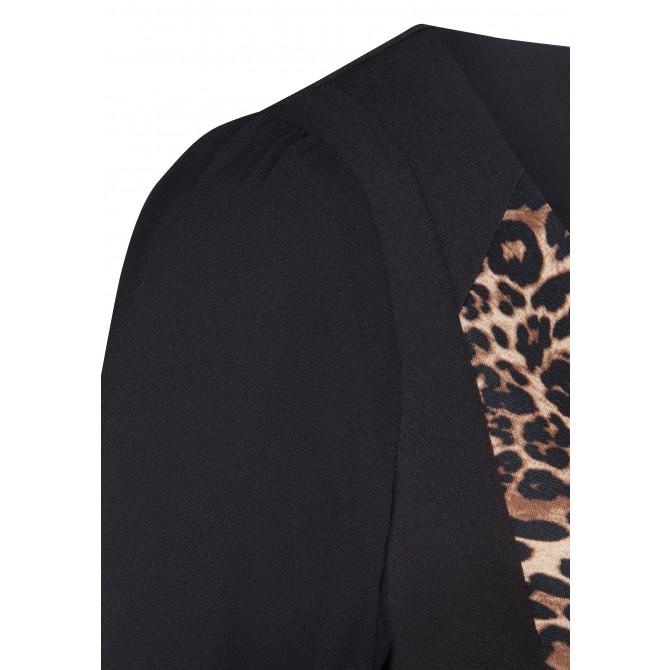 Edles Kleid MAJA mit extravagantem Leopardenmuster /