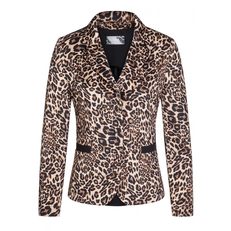 Edler Blazer ELISA mit extravagantem Leopardenm...