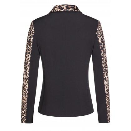 Elegant blazer ELISA with extravagant leopard print /