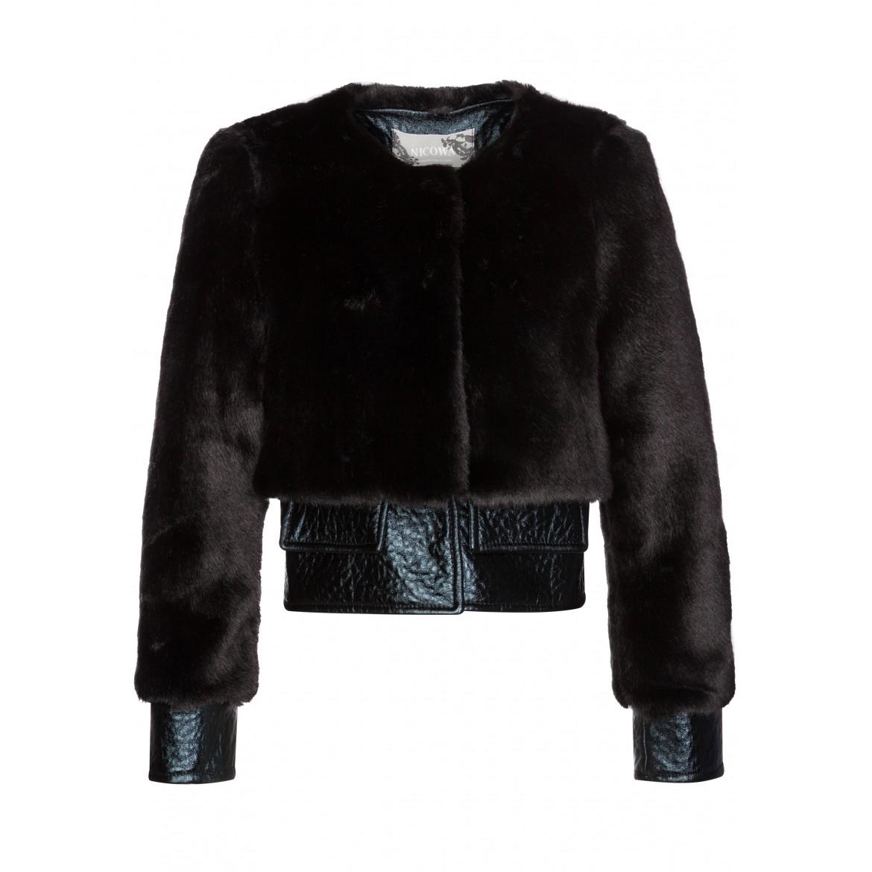 Stilvolle Jacke LISA in eleganter Kunstpelz-Qua...