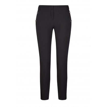 Stylish MARLENE trousers with fine iridescent details /
