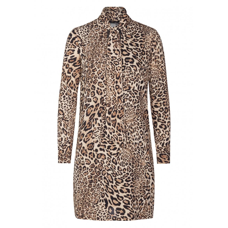 Stilvolles Kleid JANA mit extravagantem Leopard...