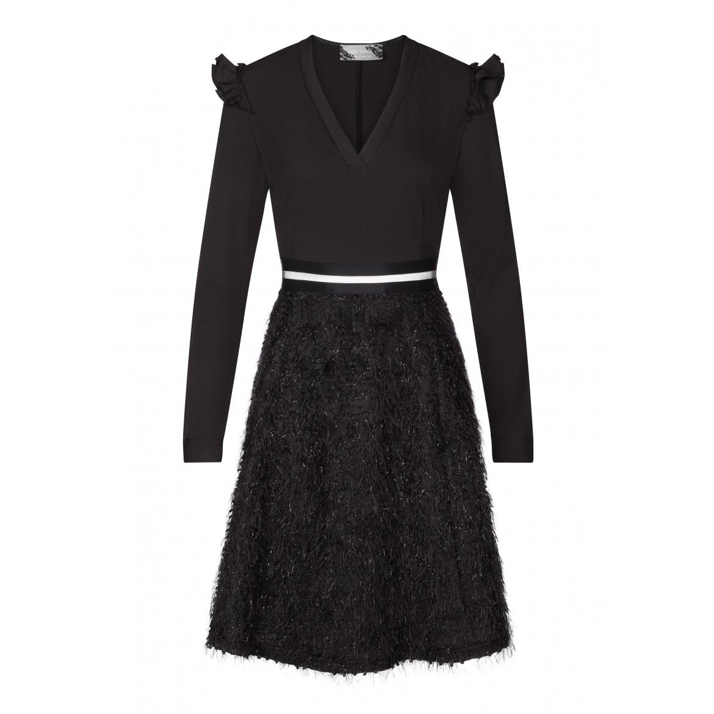 Elegantes Kleid NINA mit extravaganter Rockpartie