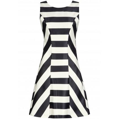 Schwungvolles Kleid FINJA mit edlem Streifen-Dessin /