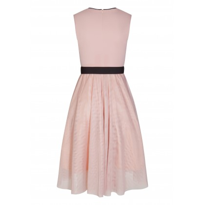 Elegant dress ALUNCY with stylish details /
