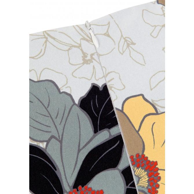 Edles Kleid MARA mit Blumen-Dessin /