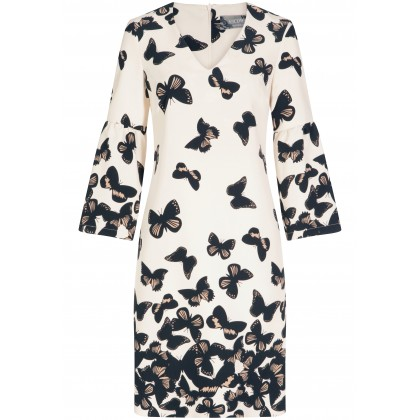 Bezauberndes Kleid KATHARINA mit femininem Schmetterlings-Muster /