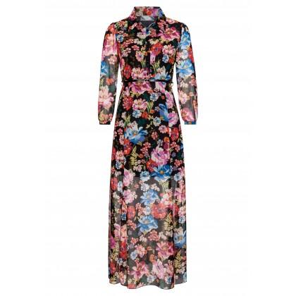 Modernes Kleid ROSALIE mit Blumenmuster /