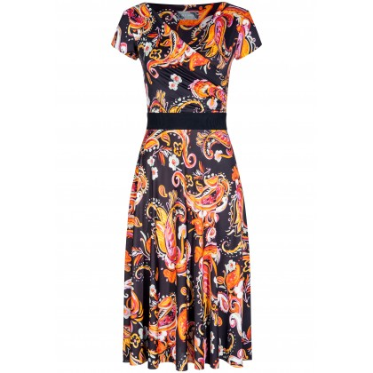 Feminines Kleid ANNIKA mit stilvollem Allover-Muster /