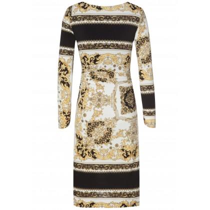 Edles Kleid MAYA mit stilvollem Allover-Muster /