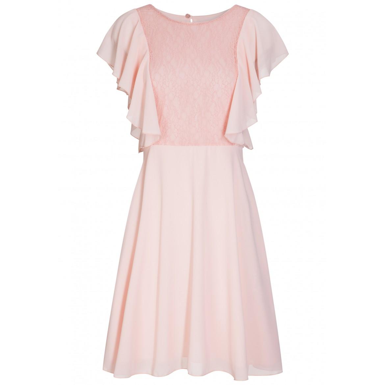Feminines Kleid MINA mit stilvollen Spitzen-Det...