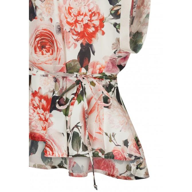 Bezaubernde Bluse FATA mit stilvollem Blumen-Dessin /