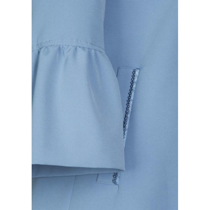 Stilvoller Mantel OSITA mit edlen Details /
