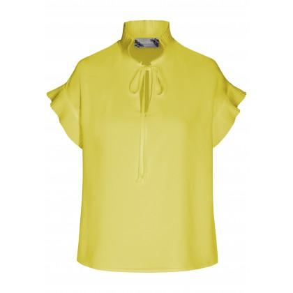 Stilvolle Bluse ULLA mit feinen Plissee-Falten /