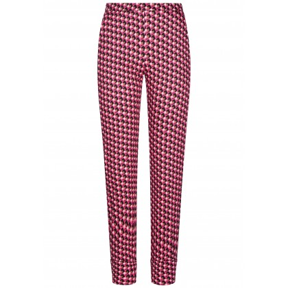 Slim-fitting cropped trousers WADINA with extravagant all-over pattern /