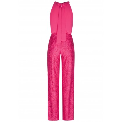 Elegant jumpsuit OSITA with stylish lace details /