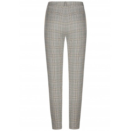 Stylish trousers ATRENTO with stylish checked design /