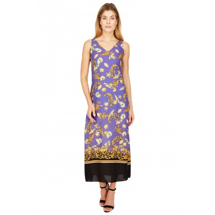 NICOWA – Luftiges Kleid NODULIA in Amethyst mit mediterranem Muster /