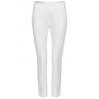 NICOWA - Classic trousers OICONA in white with crease /
