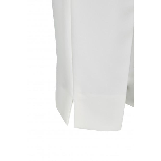 NICOWA – Klassische Hose OICONA in Weiß mit Bügelfalte /