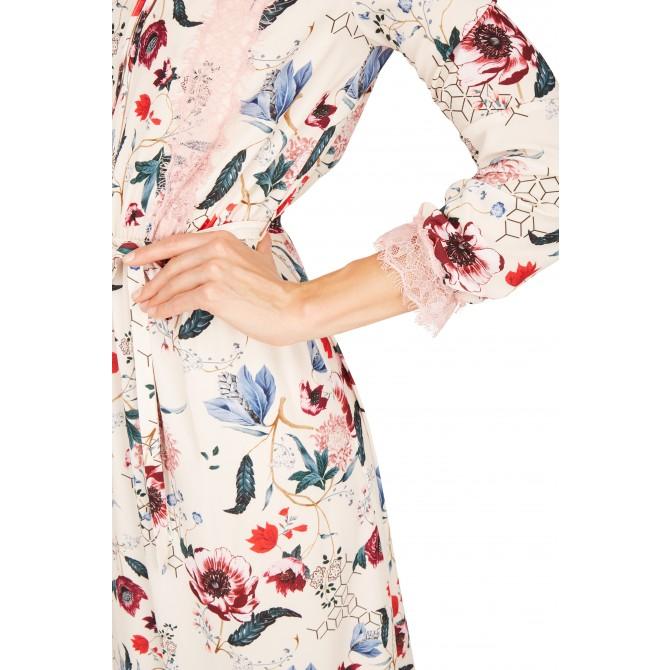 NICOWA – langes Kleid OTRENTO mit schönem floralem Muster /
