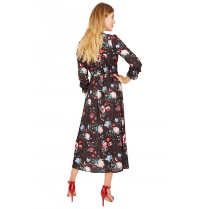 NICOWA - long dress OTRENTO with beautiful floral pattern /