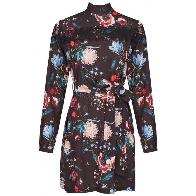 NICOWA – Midi-Kleid ASISTINA mit ausgefallenem Muster /
