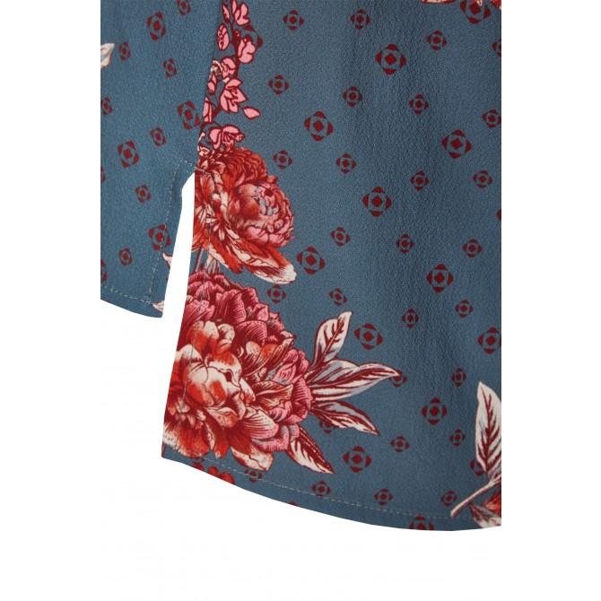 NICOWA – Elegante Bluse ALONA mit floralem Muster /