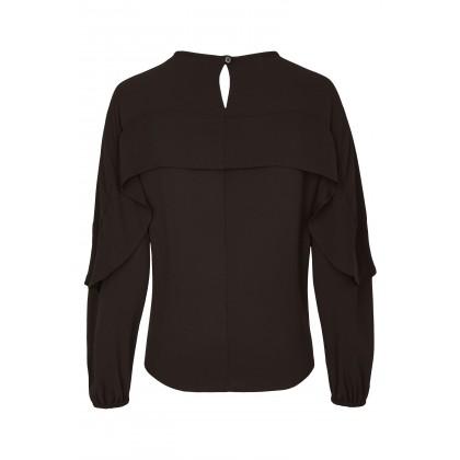 NICOWA –  Leichte Bluse NANDRA mit Volant Details /