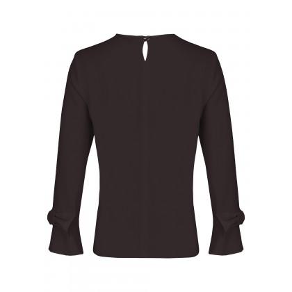 NICOWA - Plain blouse NUZZA with bows on the sleeve /