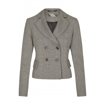 NICOWA - Shortened blazer OGHINA in fashionable check pattern /