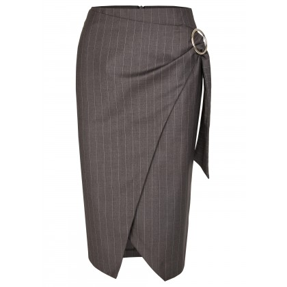 NICOWA - Great midi skirt AREDA with pinstripe /