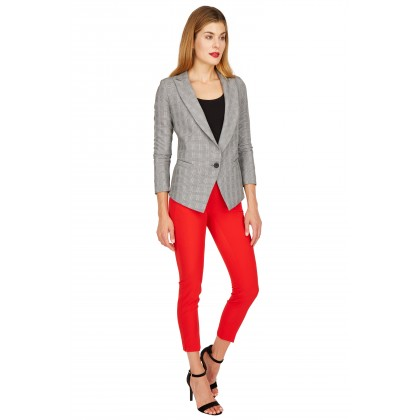 NICOWA - Women's blazer ADORA, black and white checked /