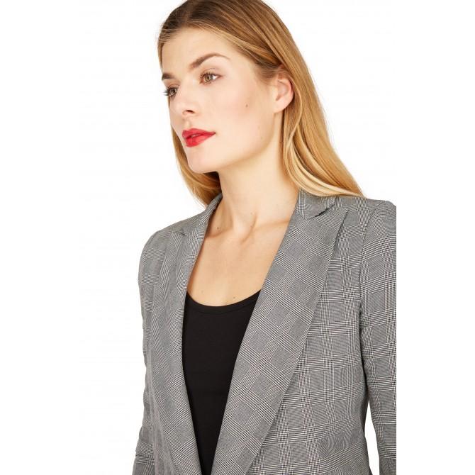 NICOWA – Damenblazer ADORA, schwarz weiß kariert /
