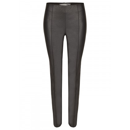 NICOWA - Trendy pants NOLARIA with artificial leather insert /