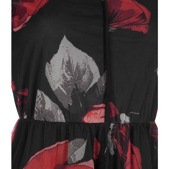NICOWA - Raffiniertes Kleid ONILVA mit edlem Rosen-Design /