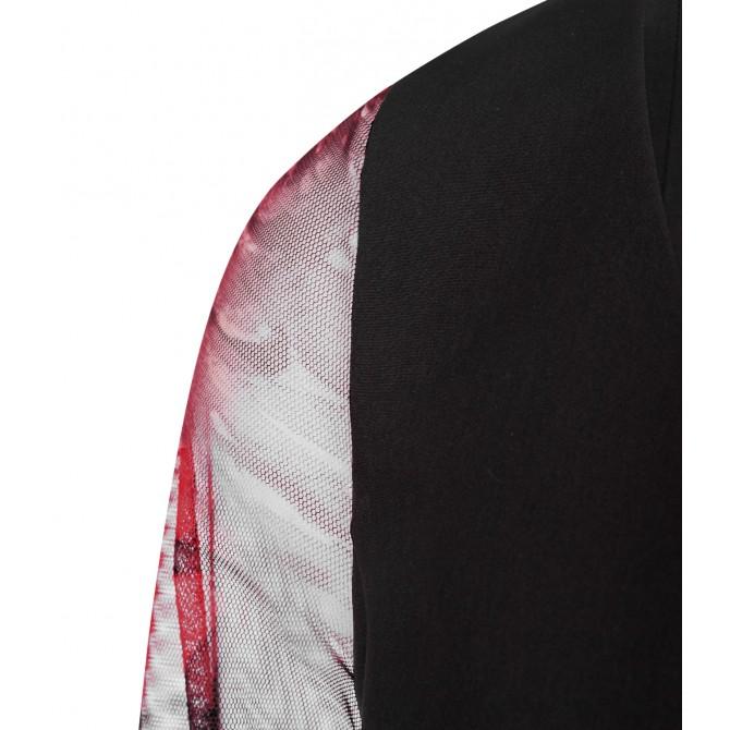 NICOWA - Extravagentes Kleid WOLOANA mit Rosen-Design /
