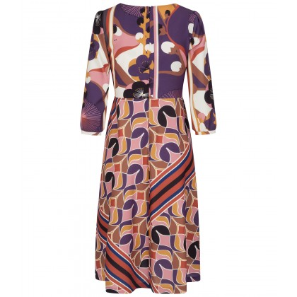 NICOWA - Print-rich NISORA dress in midi length /