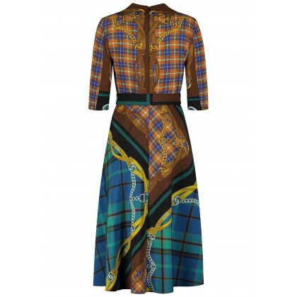 Midi-Kleid OISANNA mit extravagantem Print /