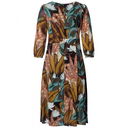 NICOWA - Floral dress ANISOLA in timeless A-line style /